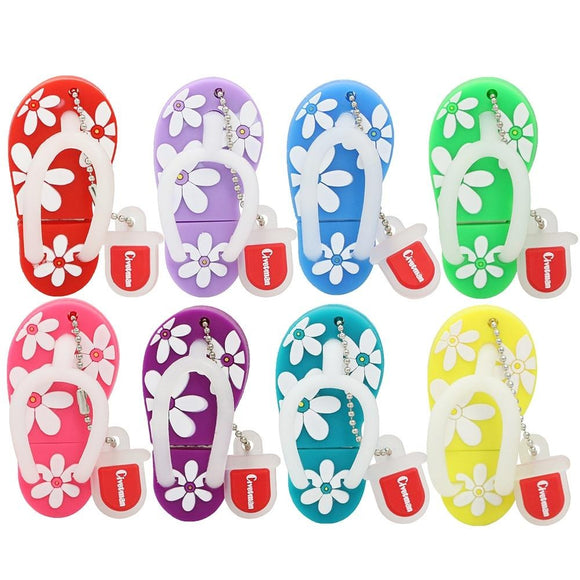 1PC Rubber Slippers USB Memory Stick-my kawaii office