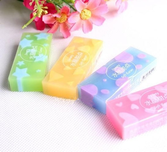 2PC Kawaii Candy Jelly Colored Rubber Eraser-my kawaii office