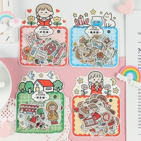 40PC Kawaii Happy Wonderland Stationery Stickers