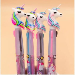 2PC 3 Colors/ 6 Colors Unicorn Ballpoint Pen-my kawaii office