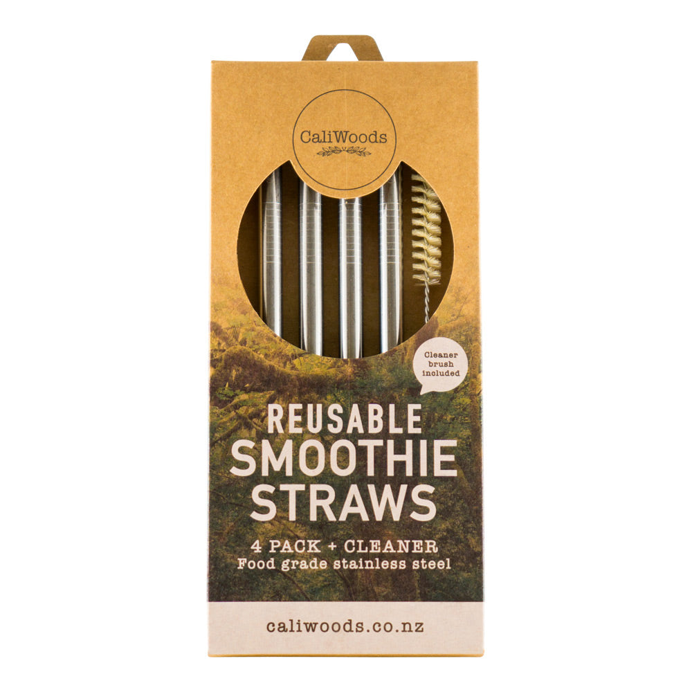 Caliwoods Smoothie Straws - 4 Pack