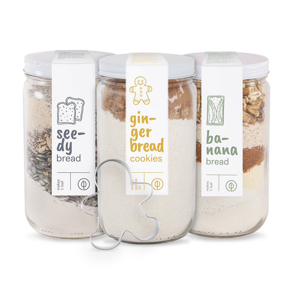 Trio Jar Box - Seedy, Banana, Gingerbread