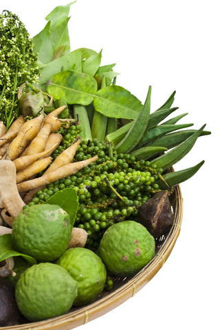 thai green herbs and spices