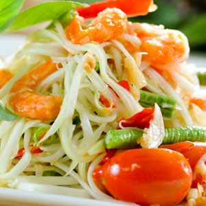 Thai popular food papaya salad mix recipe som tum digital - Thailand cuisine recipes ...
