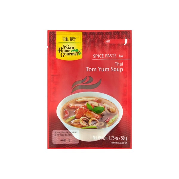 Thai Tom Yum Soup Paste Packet (Spice Level Hot) 50g by AHG