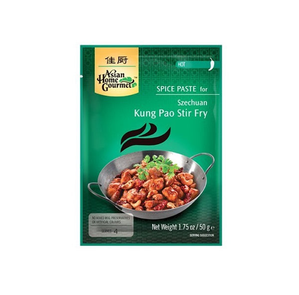 Szechuan Kung Pao Stir Fry Paste Packet (Spice Level Hot) 50g by AHG