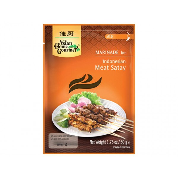 Indonesian Meat Satay Marinade Paste Packet 50g by AHG