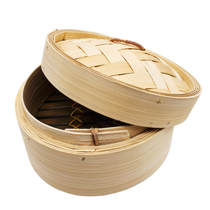 Bamboo Steamer with Lid 7 inches
