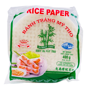 Rice Paper Spring Roll Wrappers 22cm 400g by Bamboo Tree