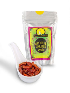 Dried Whole Birds Eye Chillies 15g by Seasoned Pioneers