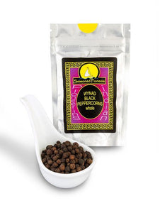 Black Peppercorns Wynad Whole 30g by Seasoned Pioneers