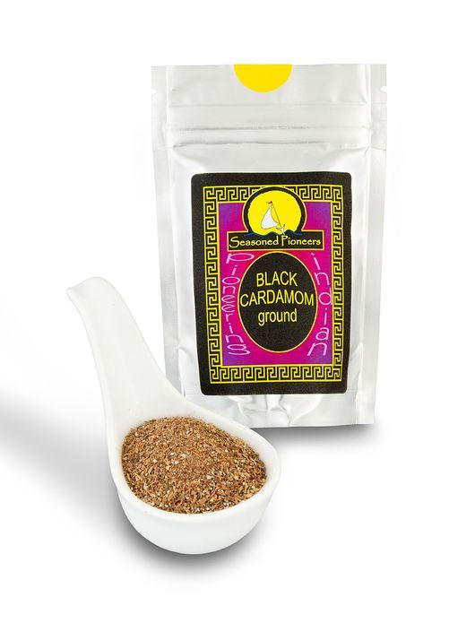 Ground Black Cardamom 35g by Seasoned Pioneers