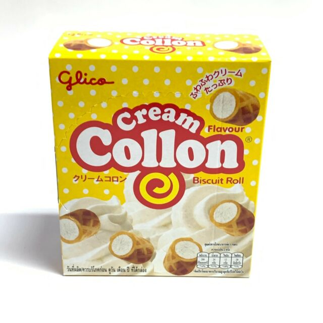 Collon biscuit roll (cream) 54g by Glico