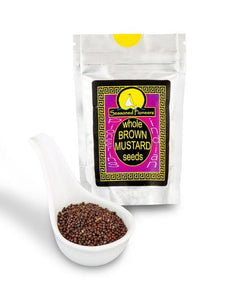 Whole Brown Mustard Seeds 43g by Seasoned Pioneers