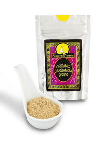 Organic Ground Green Cardamom 38g by Seasoned Pioneers