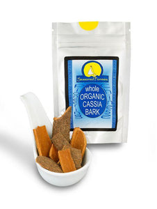 Organic Whole Cassia Bark 14g by Seasoned Pioneers