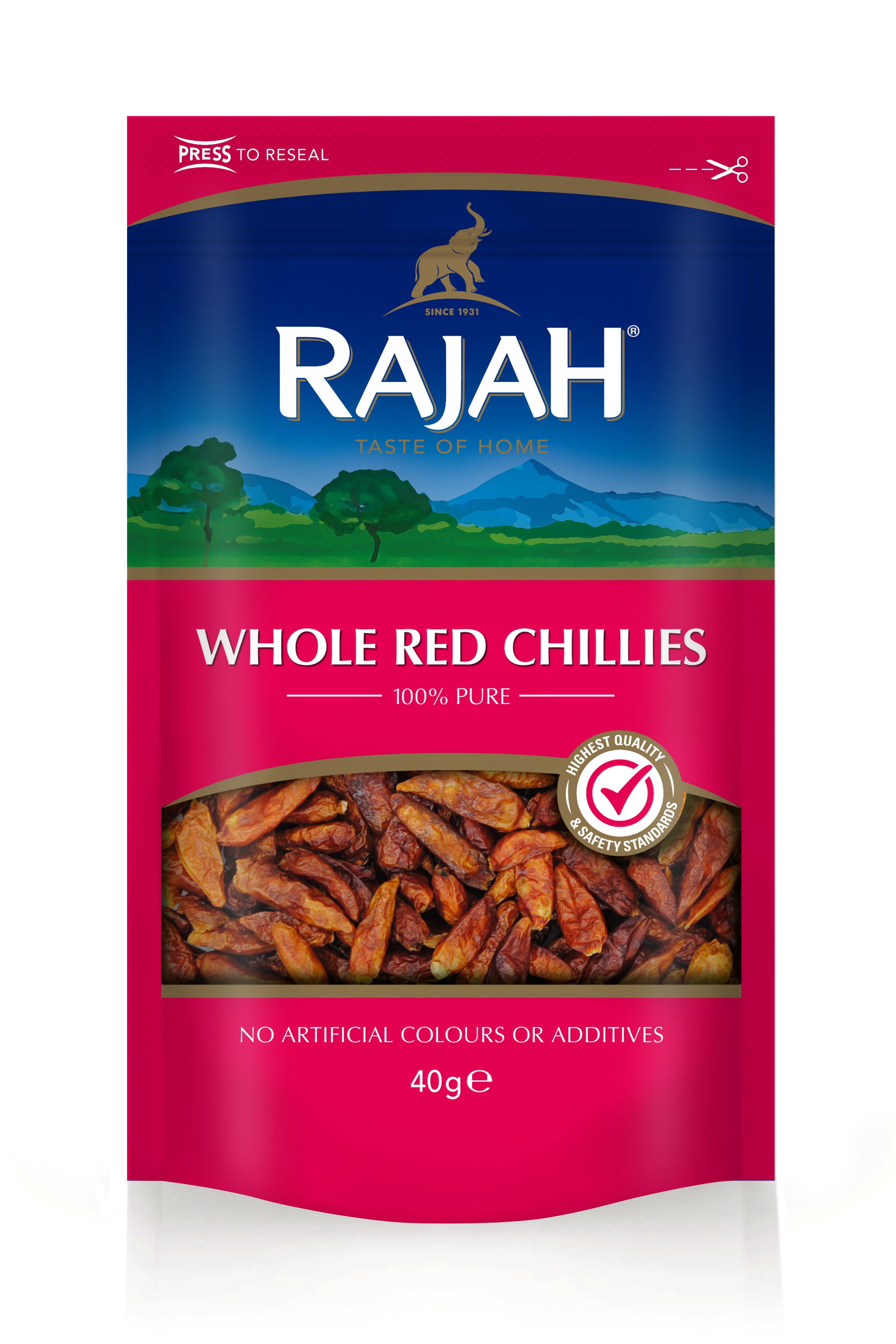 Whole Red Chilli 40g by Rajah