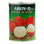 Thai lychees in syrup (565g can) by Aroy-D