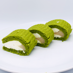 Frozen Roll Cake Matcha Green Tea Flavour 12 Slices 340g by Ajinomoto