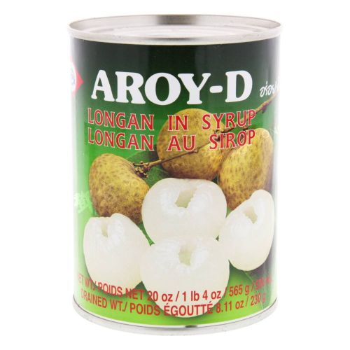 Thai longan in syrup (565g can) by Aroy-D