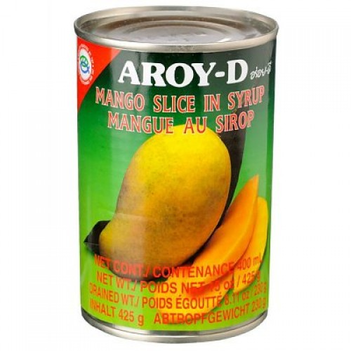 Thai Mango Slices in Syrup (425g can) by Aroy-D