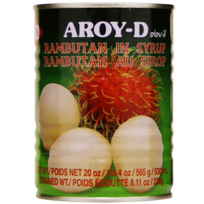 Thai rambutan (ngok) in syrup (565g can) by Aroy-D