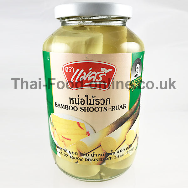 BAMBOO SHOOT RUAK (TIPS) 680G BY MAE SRI - Thai Food Online (your authentic Thai supermarket)