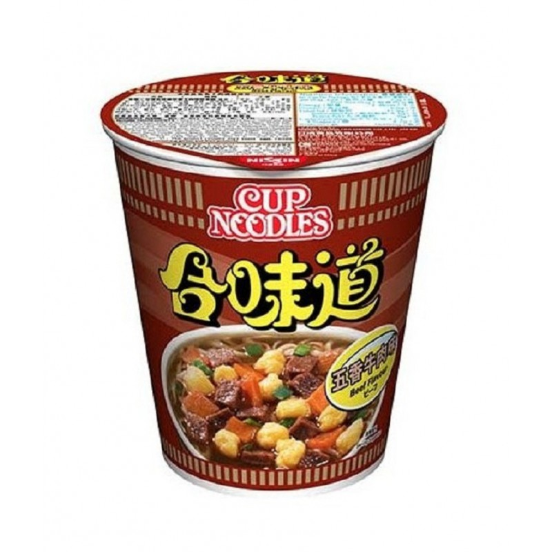 Five Spices Beef Flavour Cup Noodles 72g by Nissin