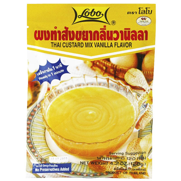 CUSTARD MIX (VANILLA) 120G BY LOBO - Thai Food Online (your authentic Thai supermarket)