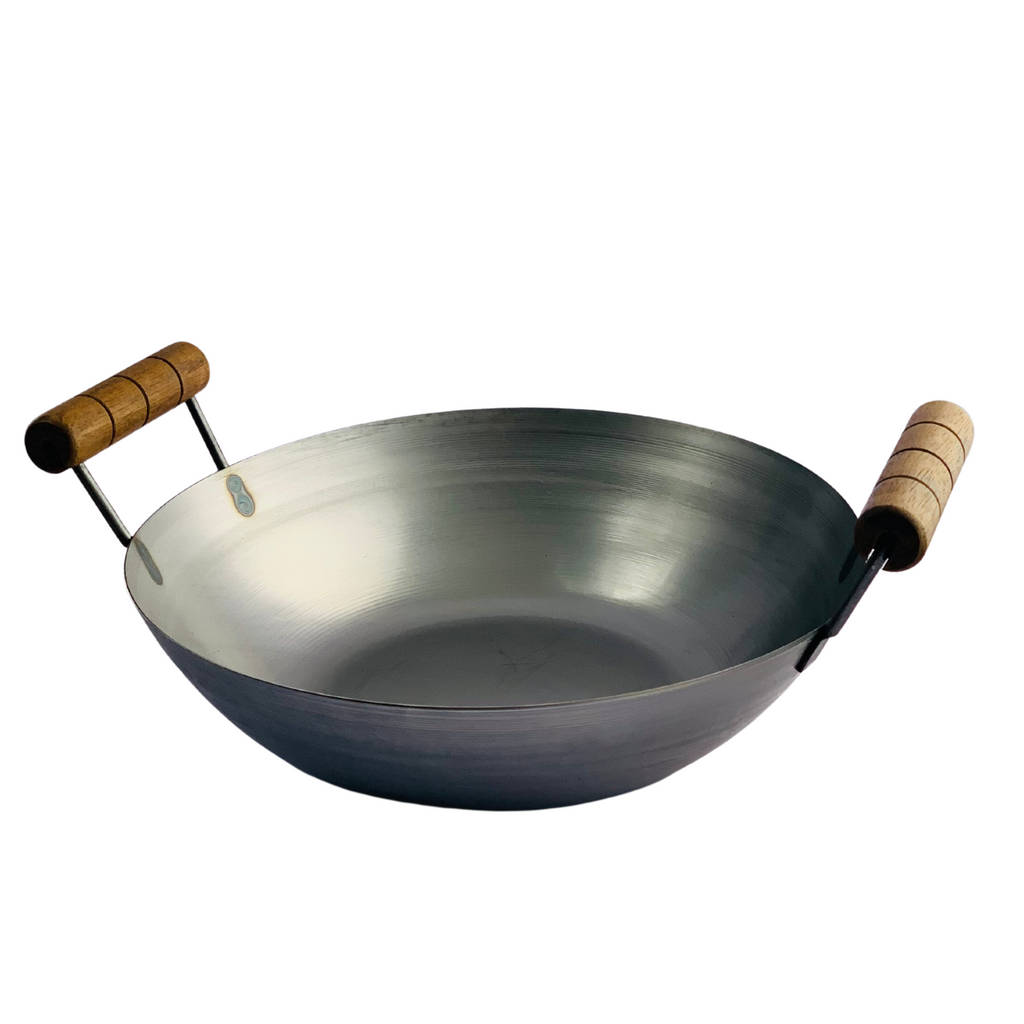 London Wok Double Handled Wok 13inch by Hancock