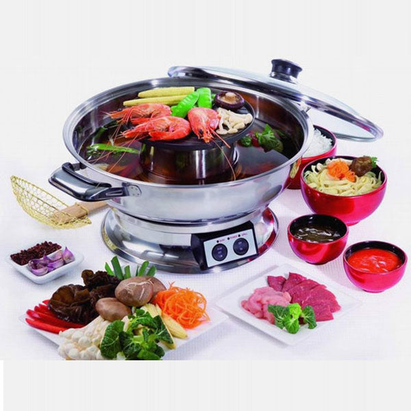 Electric Hotpot and BBQ Grill