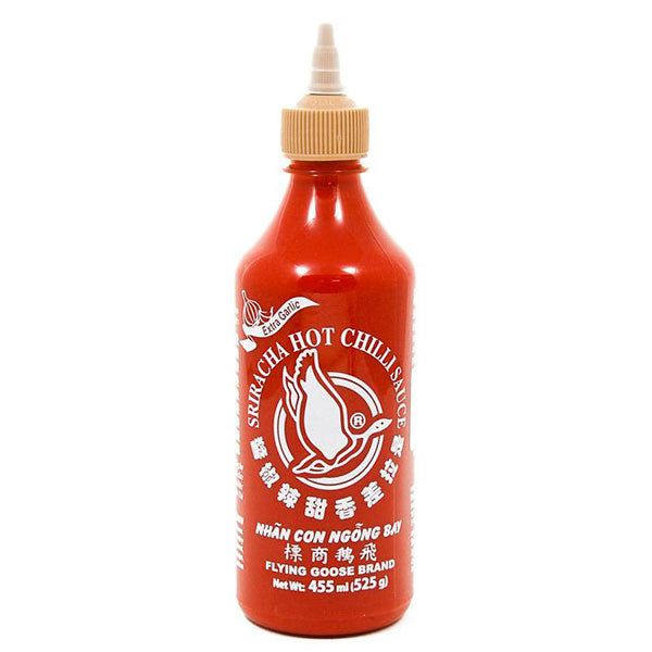 Thai sriracha hot chilli sauce (extra garlic) 455ml by Flying Goose
