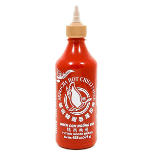 Sriracha Hot Chilli Sauce (extra garlic) 455ml - Thai Food Online (your authentic Thai supermarket)