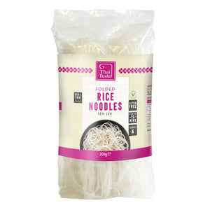 Folded Rice Noodles (Sen Lek) 200g by Thai Taste