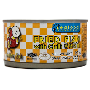 FRIED FISH (WITH CHILLI) 90G BY SMILING FISH - Thai Food Online (your authentic Thai supermarket)