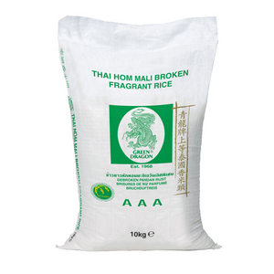 Broken Thai Fragrant Jasmine Rice 10kg by Green Dragon