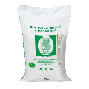 Broken Thai Fragrant Jasmine Rice 20kg by Green Dragon