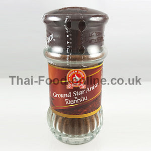 GROUND STAR ANISE POWDER (BOTTLE) 45G BY NGUAN SOON - Thai Food Online (your authentic Thai supermarket)