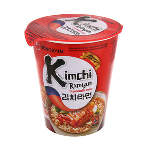 Kimchi Flavoured Instant Cup Noodles 75g by Nongshim