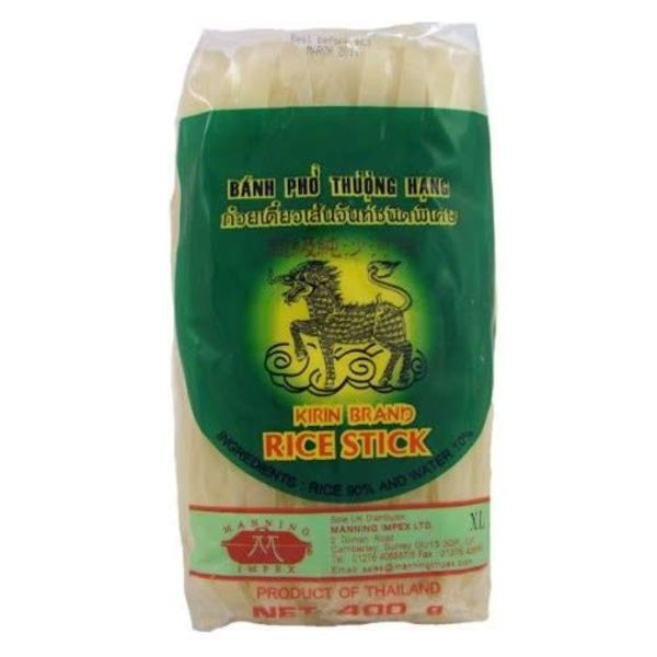 Thai Rice Stick (10mm) 400g by Kirin