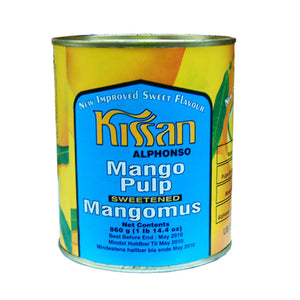 Mango Pulp Sweetened Alphonso 860g Tin by Kissan