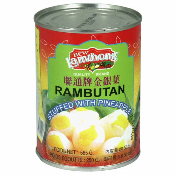 Rambutan and pineapple in syrup (565g) by Lamthong