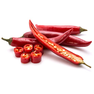 Fresh large red Thai chillies (peppers) 100g - imported weekly from Thailand