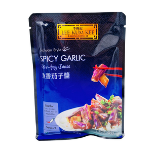 Spicy Garlic Aubergine Packet Sauce 80g by Lee Kum Kee