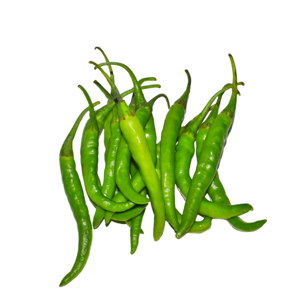 Fresh Small Green chillies 100g - imported weekly from India