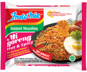 Mi Goreng Pedas Hot and Spicy Instant Noodles 80g by Indomie