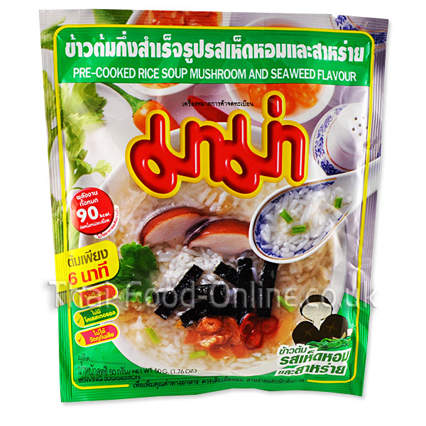 Jok Rice Instant Porridge (Mushroom Seaweed) - Thai Food Online (your authentic Thai supermarket)