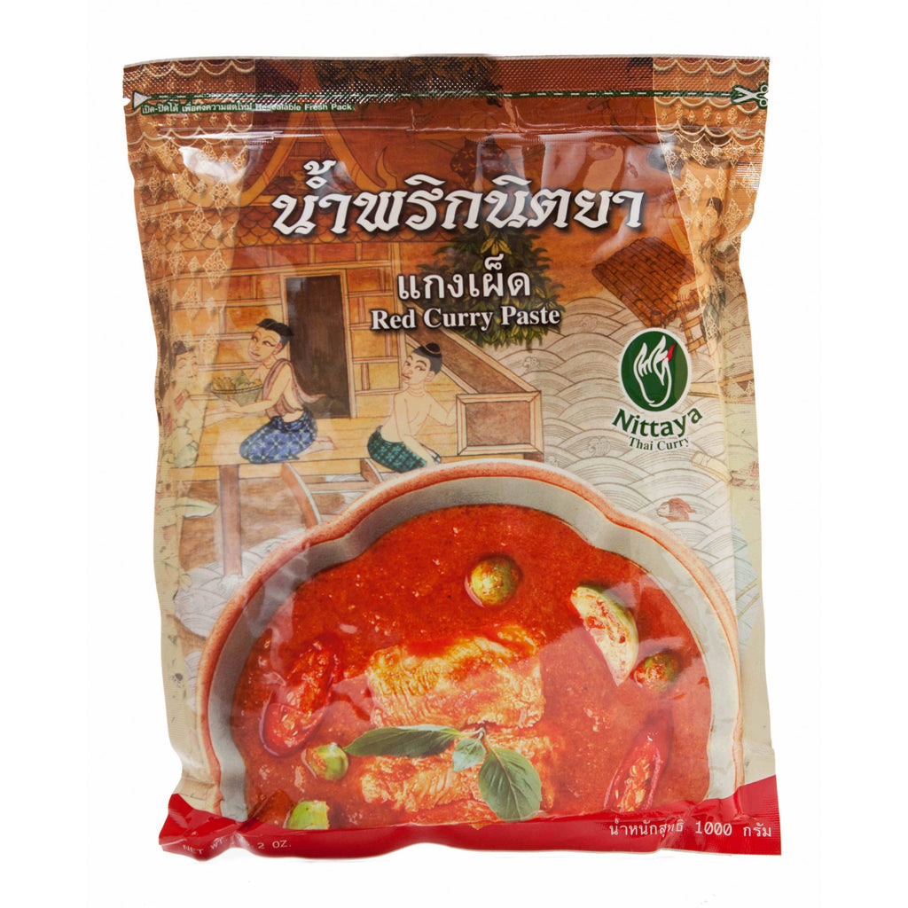 Red curry paste (1kg large packet) by Nittaya