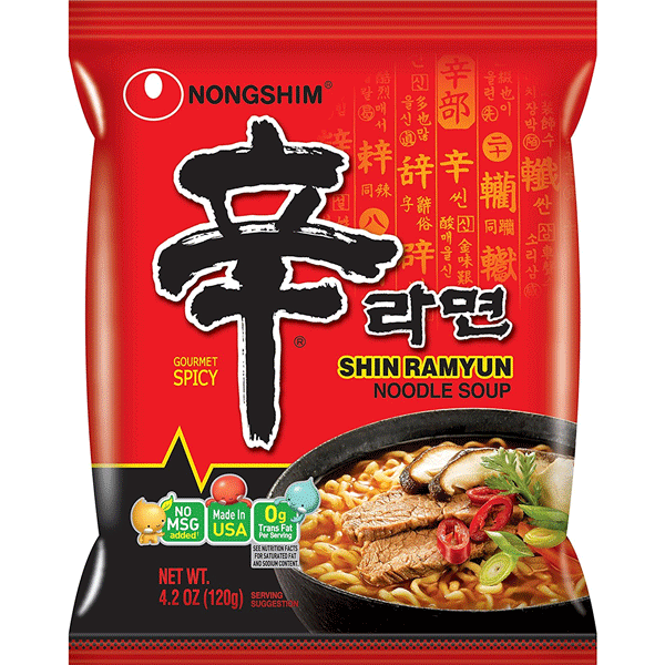 Shin Ramyun Instant Noodle Soup 120g by Nongshim