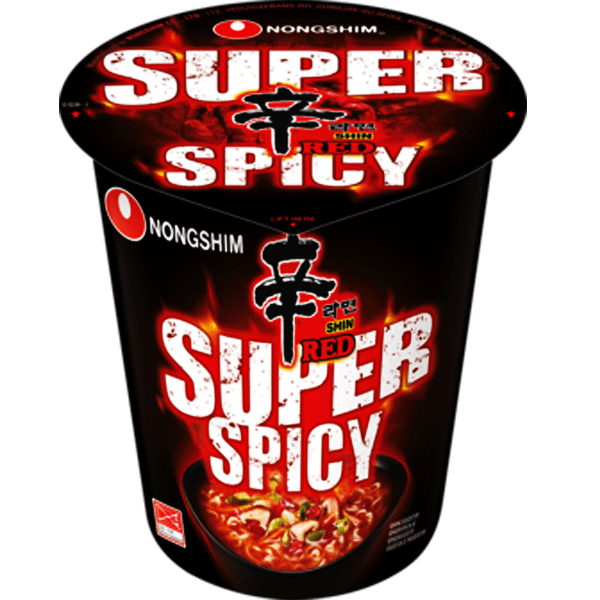 Shin Ramyun Super Hot Instant Cup Noodles 68g by Nongshim